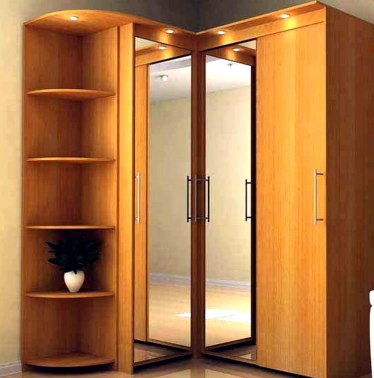Bedroom corner wardrobe designs
