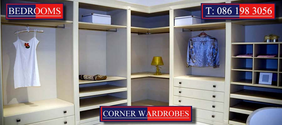 Corner Wardrobes designed and created by Mallow Joinery