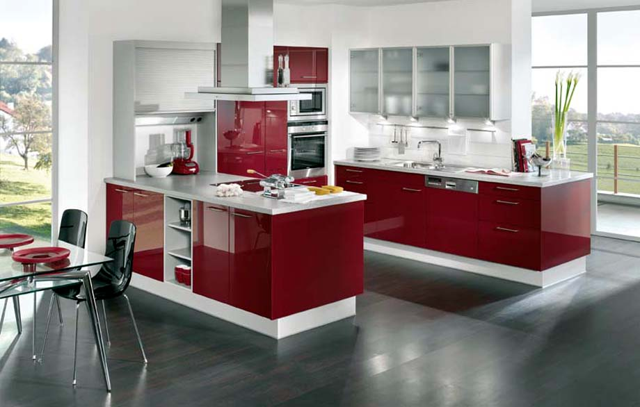 Gloss kitchens cork gloss kitchens ireland gloss for Red fitted kitchen
